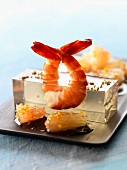 Shrimps in aspic with grapefruit