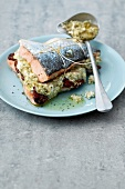 Salmon stuffed with fromage frais
