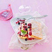 Summer fruit and lemon curd mille-feuille