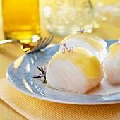 Cod with garlic mayonnaise