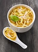 Udon noodle miso soup