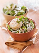 Sugar pea and Crottin de Chavignol salad
