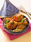 Chicken,prune and carrot Tajine