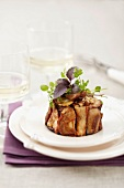 Charlotte -style cep and walnut savoury cake