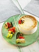 Vacherin Fondue with vegetables