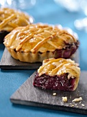Individual blueberry pies