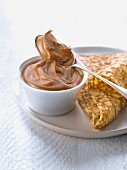 Homemade salted butter toffee spread