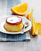 Orange-flavored baked egg custard