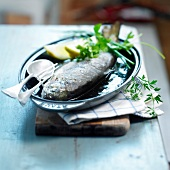 Roast trout with herbs