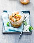 Shrimp salad with Virgin sauce