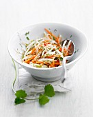 Grated carrot and beansprout salad