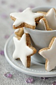 Star-shaped Christmas cookies