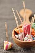 Boiled candy lollipops