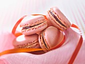 Rose-flavored macaroons
