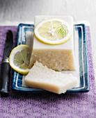 Lemon-flavored fish terrine
