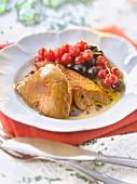 Pan-fried foie gras with berries