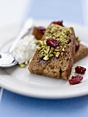 Dried fruit and cranberry cake