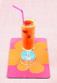 Spicy melon, carrot and raspberry juice
