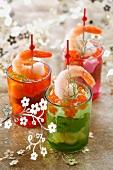 Avocado mousse with shrimps