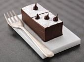 Creamy chocolate domino