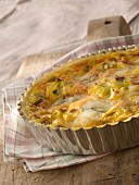 Leek and Morbier quiche