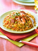 Jambalaya with Chorizo and shrimps