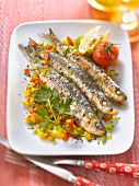 Marinated sardines with three peppers