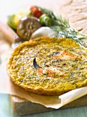 Crab meat and dill Tortilla