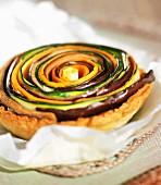 Spiral vegtable tartlet