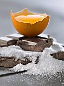 Chocolate,egg and sugar