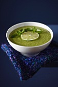 Acidulated watercress and coconut milk soup