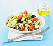 Greek-style salad with tofu