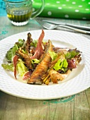 Turbot, artichoke, Spanish ham and lettuce salad