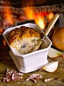 Flammenkuche-style Alsation cake