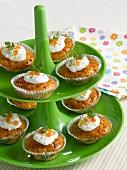 Individual smoked salmon savoury cakes