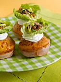 Onion and bacon savoury cupcakes
