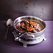 Beef, carrot and orange stew