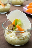 Vegetable and parmesan risotto