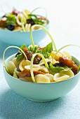 Orecchiette, sun-dried tomato, olive and basil salad