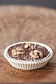 Choco-chestnut and walnut tartlet