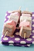 Marshmallow brochettes