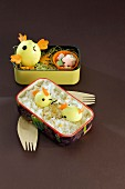 Chick-shaped Bento