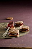 Chocolate and summer fruit jam Whoopies