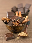 Chocolate and spices