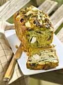 Eggplant,feta and pesto savoury cake