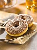 Choco-coconut donuts