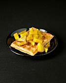 Waffle with pineapple
