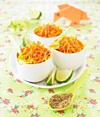 Karottensalat mit Sesam