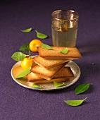 Orange blossom Financiers