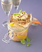 Small jar of foie gras